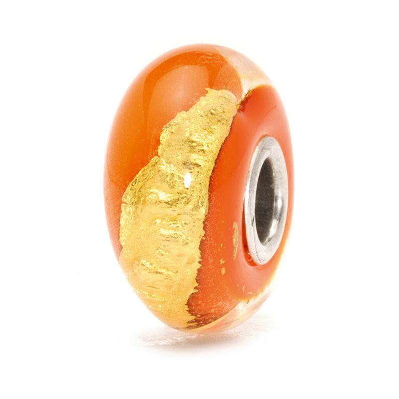 Perle en verre chakra ventre Trollbeads
