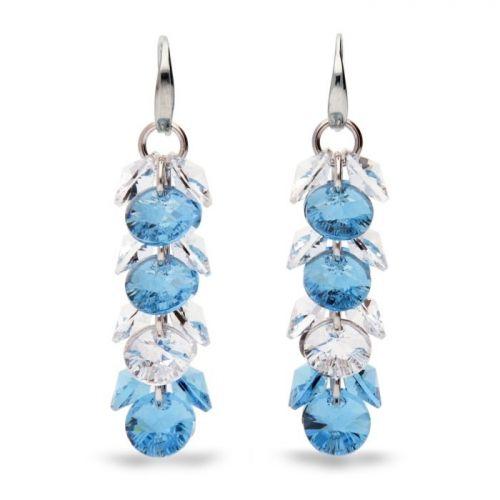 Boucles d'oreilles Spark en Argent et cristaux de Swarovski