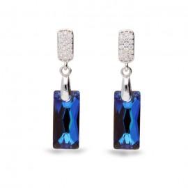 Boucles d'oreilles Spark en Argent et cristaux