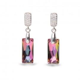 Boucles d'oreilles Spark Argent et cristaux