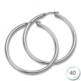 Boucles d'oreilles créoles Argent diamètre 40 mm