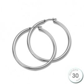 Boucles d'oreilles créoles Argent diamètre 30 mm