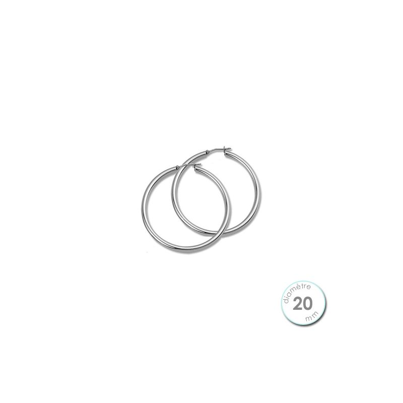 Boucles d'oreilles créoles Argent diamètre 20 mm