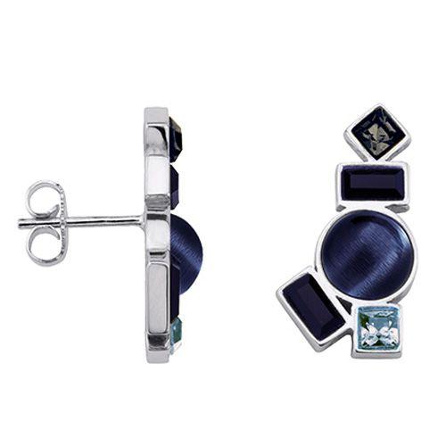 Boucles d'oreilles Argent et pierres bleues