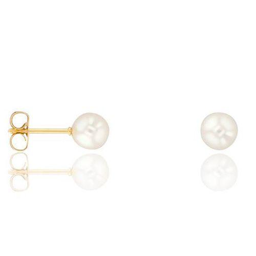 Boucles d'oreilles Or jaune et perle diamètre 4.5/5mm