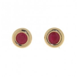 Boucles d'oreilles Or et rubis
