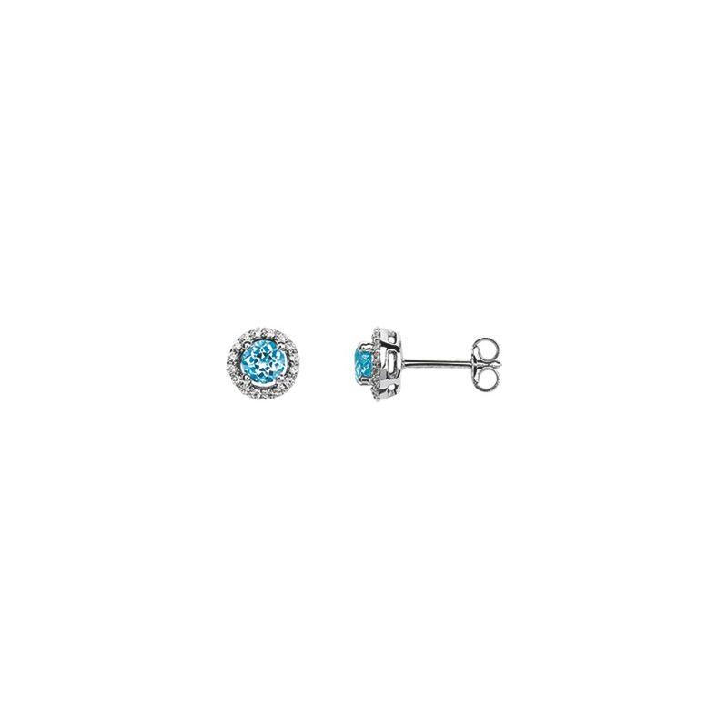 Boucles d'oreilles Or, topazes et oxydes de zirconium