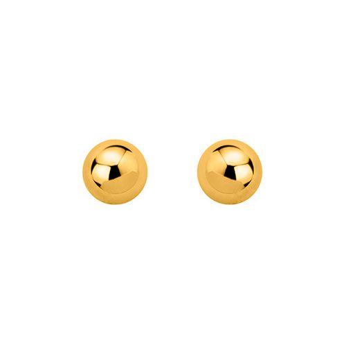 Boucles d'oreilles boules Plaqué Or diamètre 8 mm