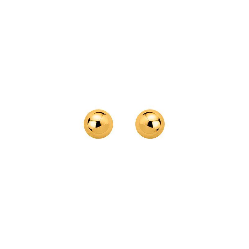 Boucles D Oreilles Boules Plaque Or Diametre 8 Mm
