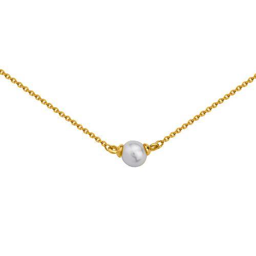 Collier Or jaune 375 et perle