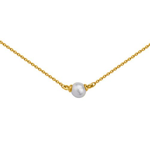 Collier Or jaune 375 et perle