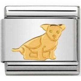 Maillon Nomination classic chien en Or