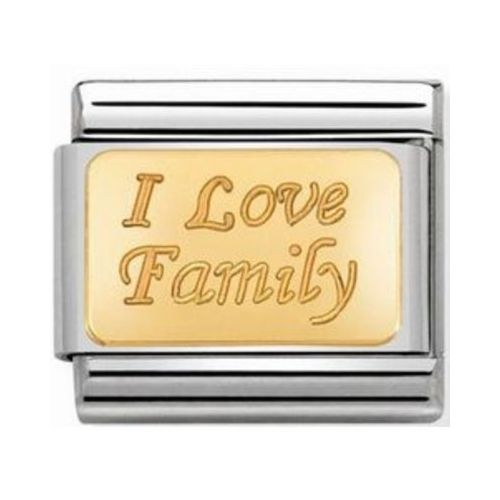 Maillon Nomination classic I love family en or