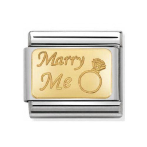 Maillon Nomination classic Marry me en or