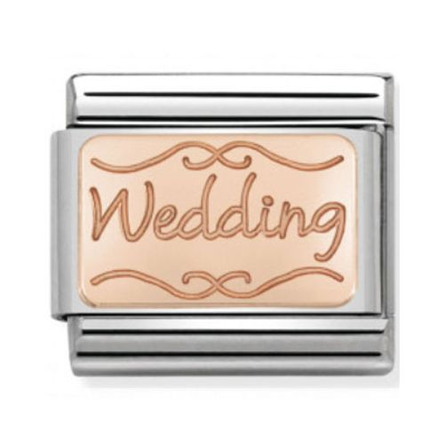 Maillon Nomination classic Wedding en Or rose