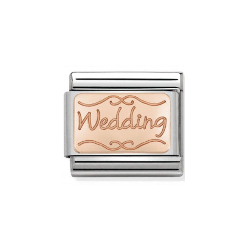 Maillon Nomination classic Wedding en Or rose