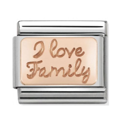 Maillon Nomination classic I love You family en Or rose