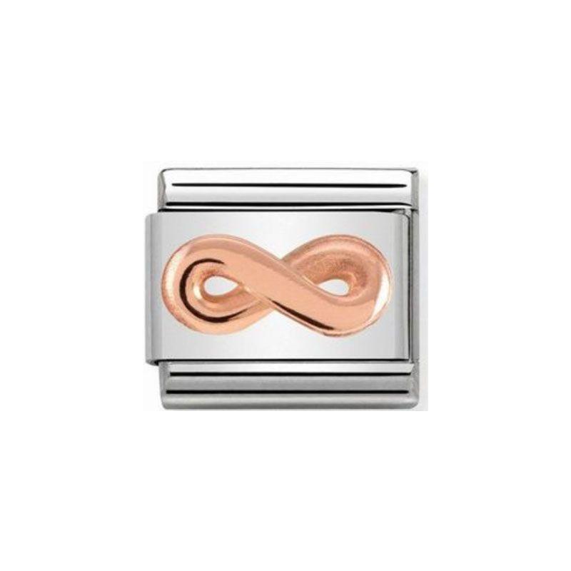 Maillon Nomination classic relief symbole de l'infini