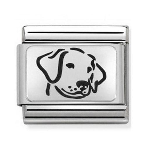 Maillon Nomination classic chien en Argent