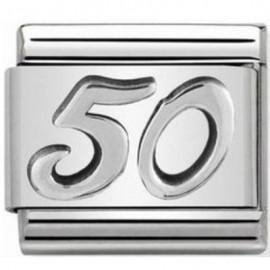 Maillon Nomination classic 50 en Argent