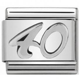 Maillon Nomination classic 40 en Argent