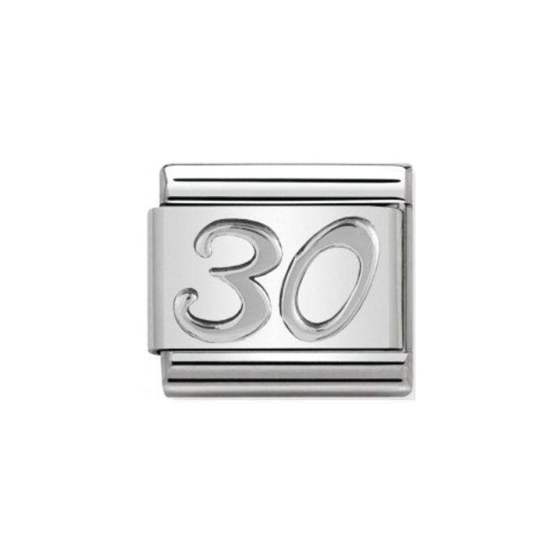Maillon Nomination classic 30 en Argent