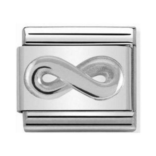 Maillon Nomination classic symbole de l'infini en Argent