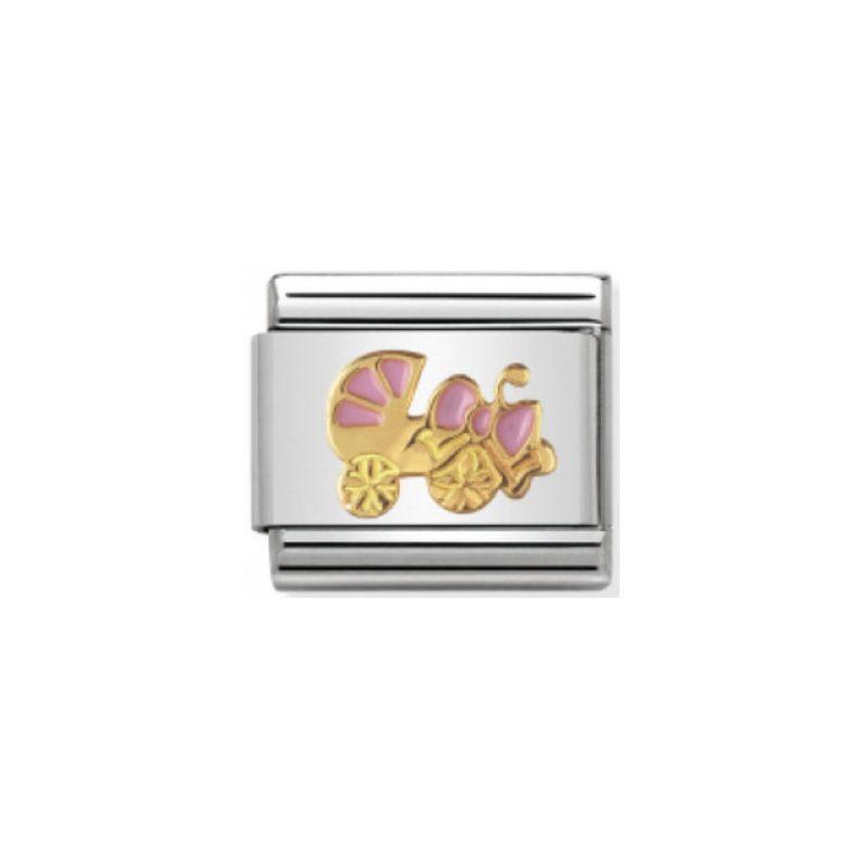 Maillon Nomination classic poussette rose