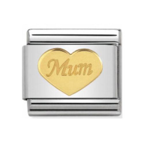 Maillon Nomination classic coeur Mum en or