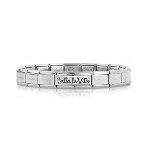 Bracelet Nomination Bella Vita Edition spéciale 30 ans en acier et Argent