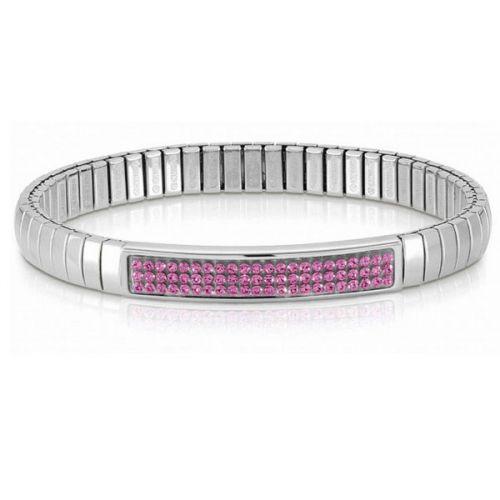 Bracelet Nomination extensible Glitter avec cristaux Swarovski roses