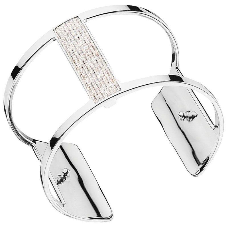 Bracelet manchette Les Georgettes précieuses plaqué Argent large et oxydes
