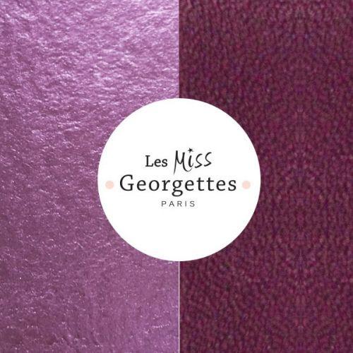 Cuir reversible miss les Georgettes violet foncé/parme irisé