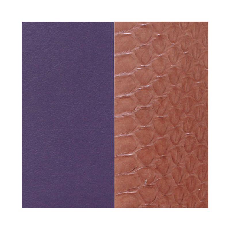 Cuir reversible les Georgettes serpent eau terre/violet