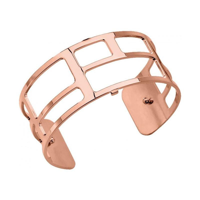 Bracelet manchette Les Georgettes motif labyrinthe finition Or rose medium