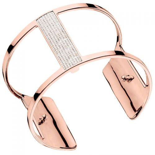 Bracelet manchette Les Georgettes précieuses finition Or rose large et oxydes