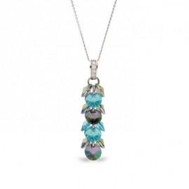 Collier Spark Argent et cristaux de Swarovski