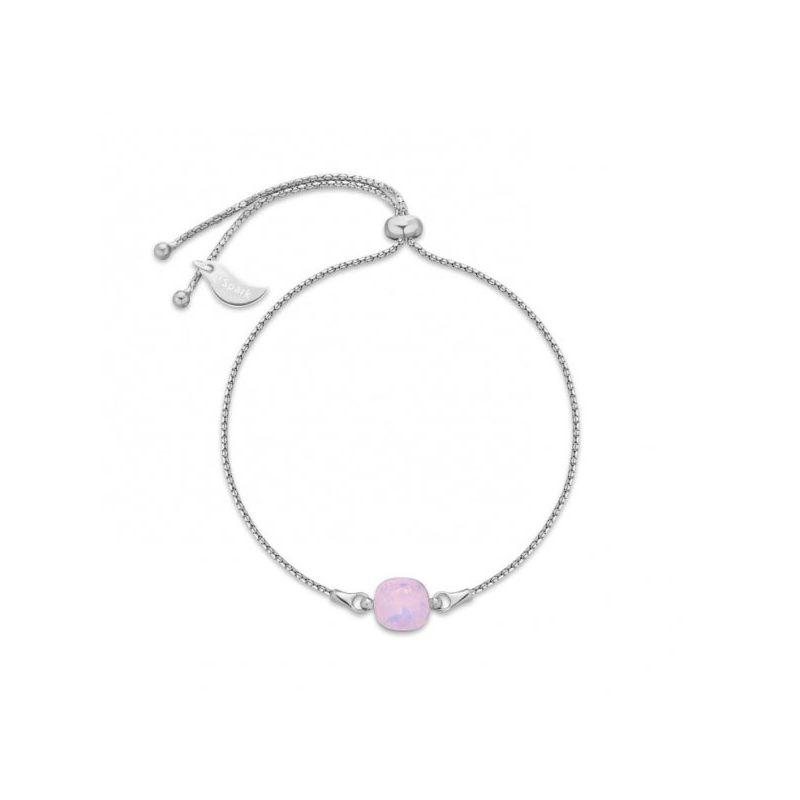 Bracelet Spark Argent et cristaux de Swarovski rose