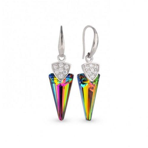 Boucles d'oreilles Spark Argent et cristaux de Swarovski motif glaive