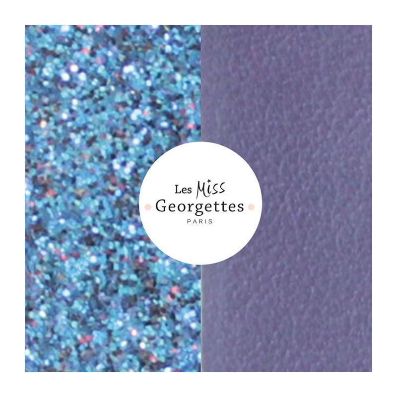 Cuir reversible miss les Georgettes bleu/violet