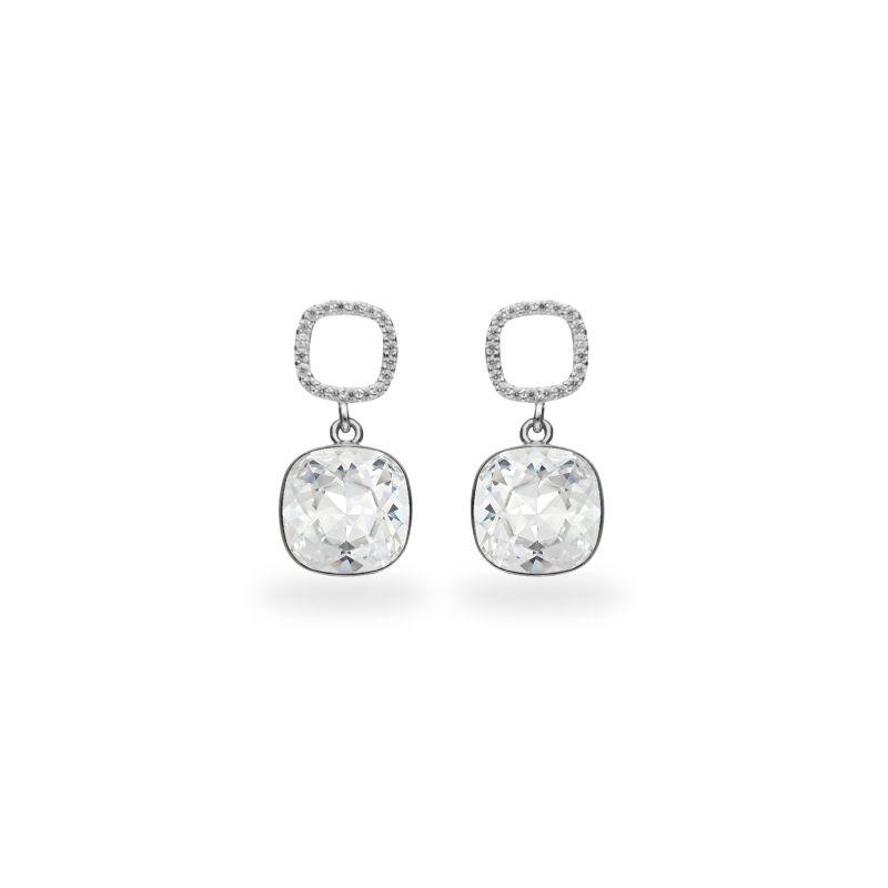 Boucles d'oreilles Spark Argent et cristaux blancs