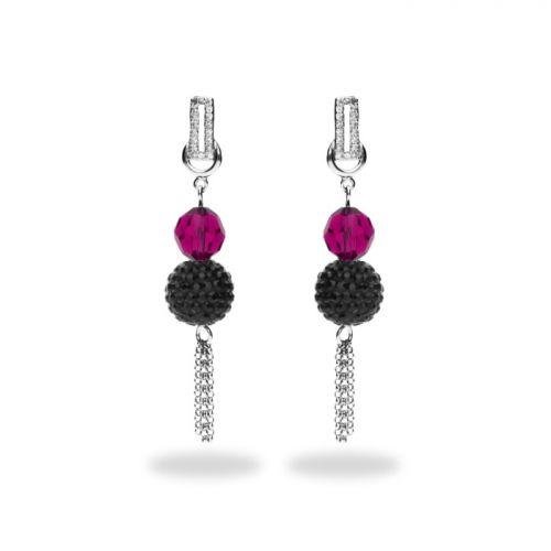 Boucles d'oreilles Spark Argent et cristaux de Swarovski