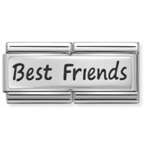 Maillon Nomination classic double Plaque Best Friends