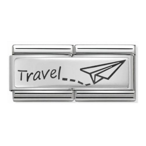 Maillon Nomination classic double Plaque Travel