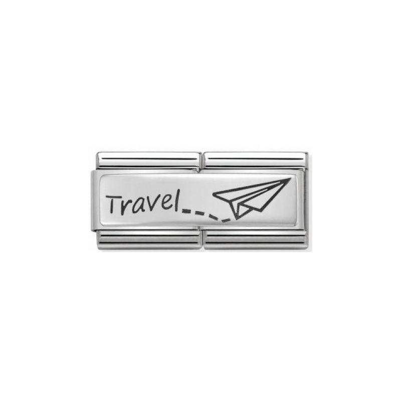 Maillon Nomination classic double Plaque Travel
