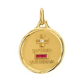 Médaille d'Amour en Or, Diamant et Rubis synthétique - Augis