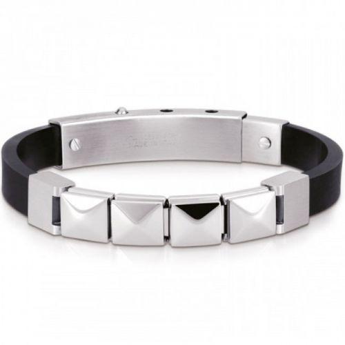 Bracelet Nomination acier et caoutchouc