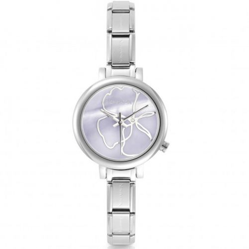 Montre femme Nomination composable et bracelet cuir rose