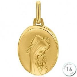 Médaille de baptême Vierge en Or 9 carats - Augis