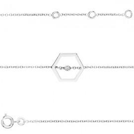 Bracelet plaqué Argent et oxyde de zirconium